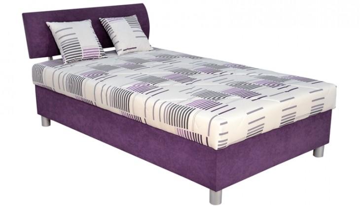 Čalúnená Čalúnená posteľ George 120x200, fialová, vrátane matraca a úp