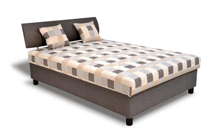 Čalúnená Čalúnená posteľ George 140x200, hnedá, vrátane matracov a úp