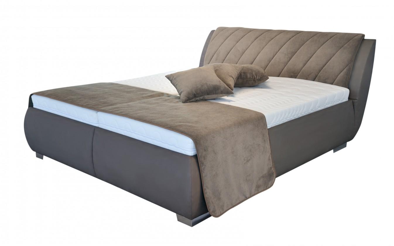 Čalúnená Čalúnená posteľ Grosseto 180x200 vrátane matracov,pol.roštu a úp