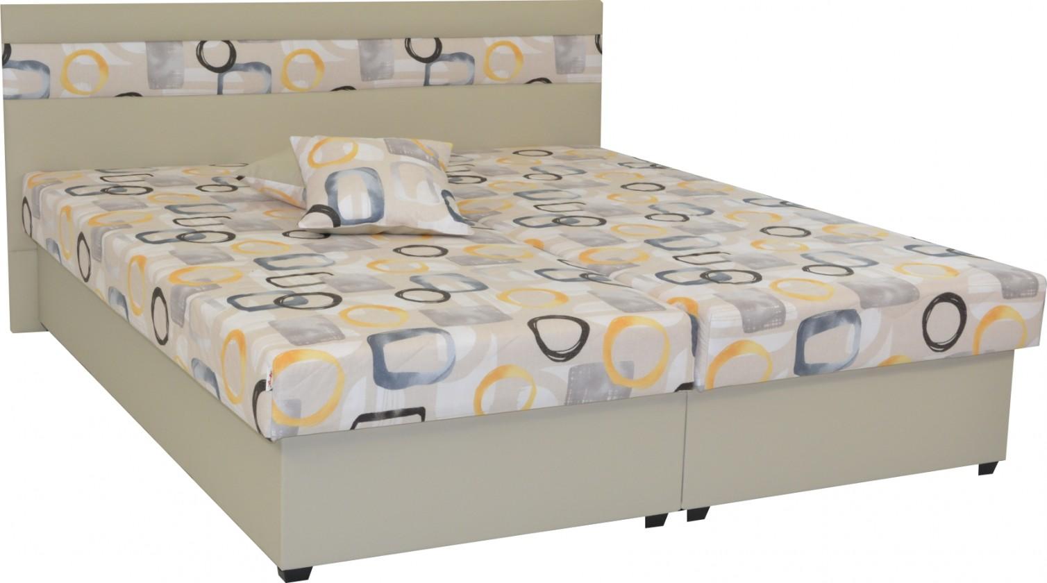 Čalúnená Čalúnená posteľ Mexico 160x200, béžová, vrátane úp