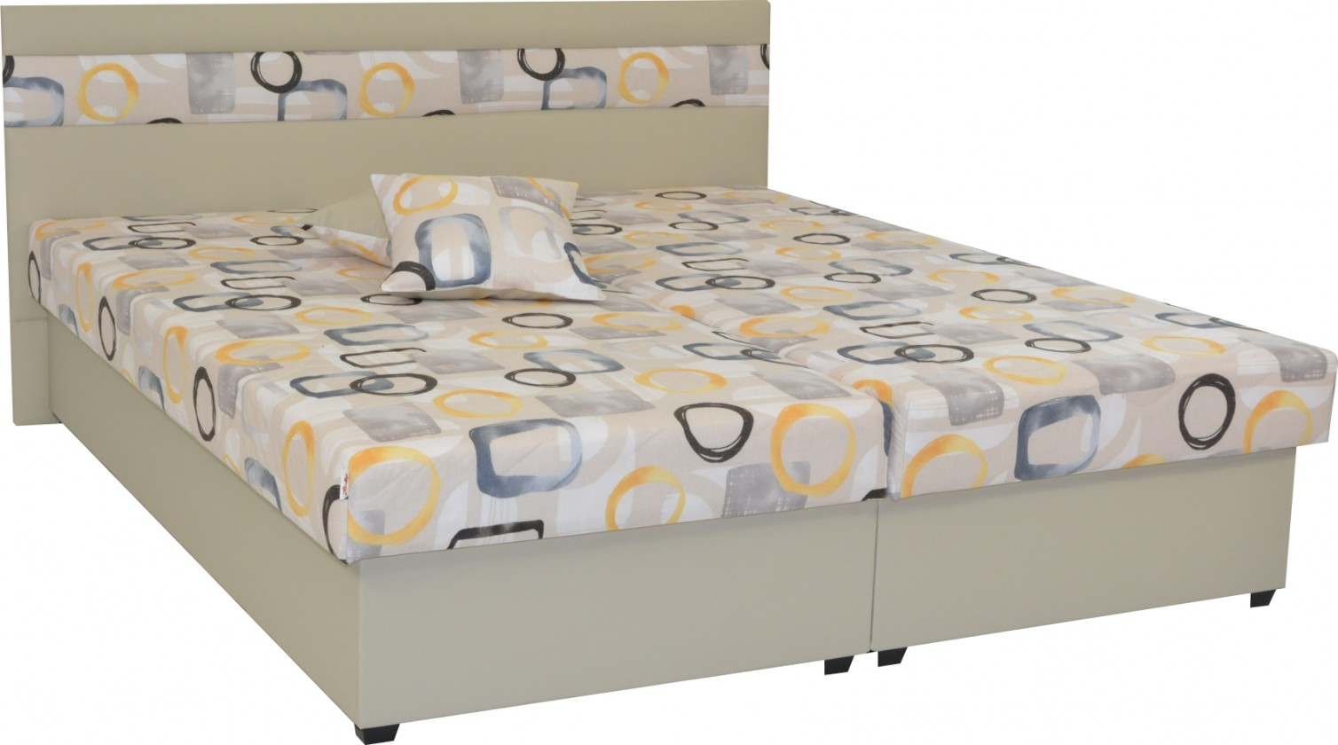 Čalúnená Čalúnená posteľ Mexico 180x200, béžová, vrátane úp