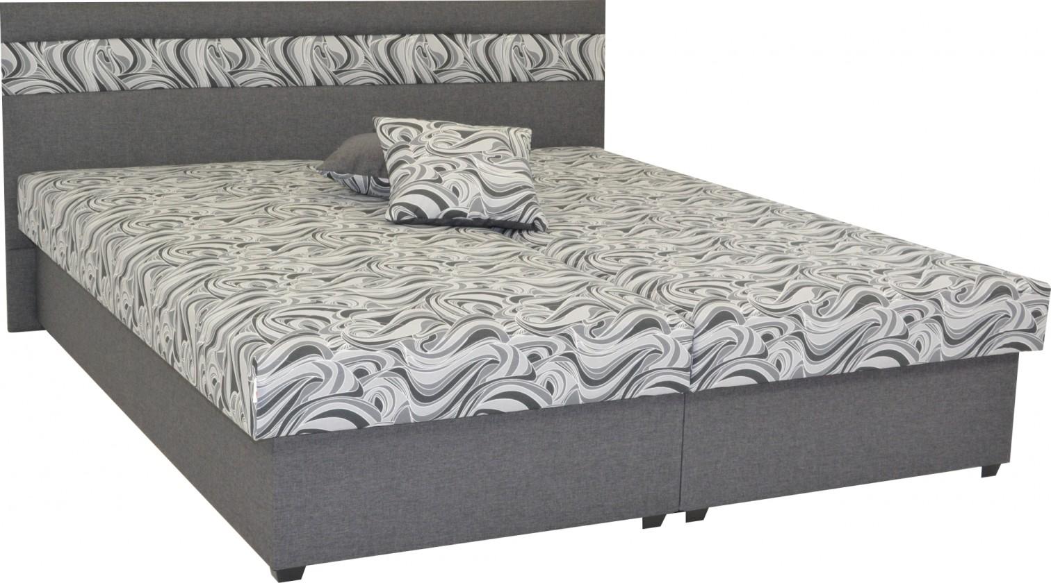 Čalúnená Čalúnená posteľ Mexico 180x200, šedá, vrátane úp