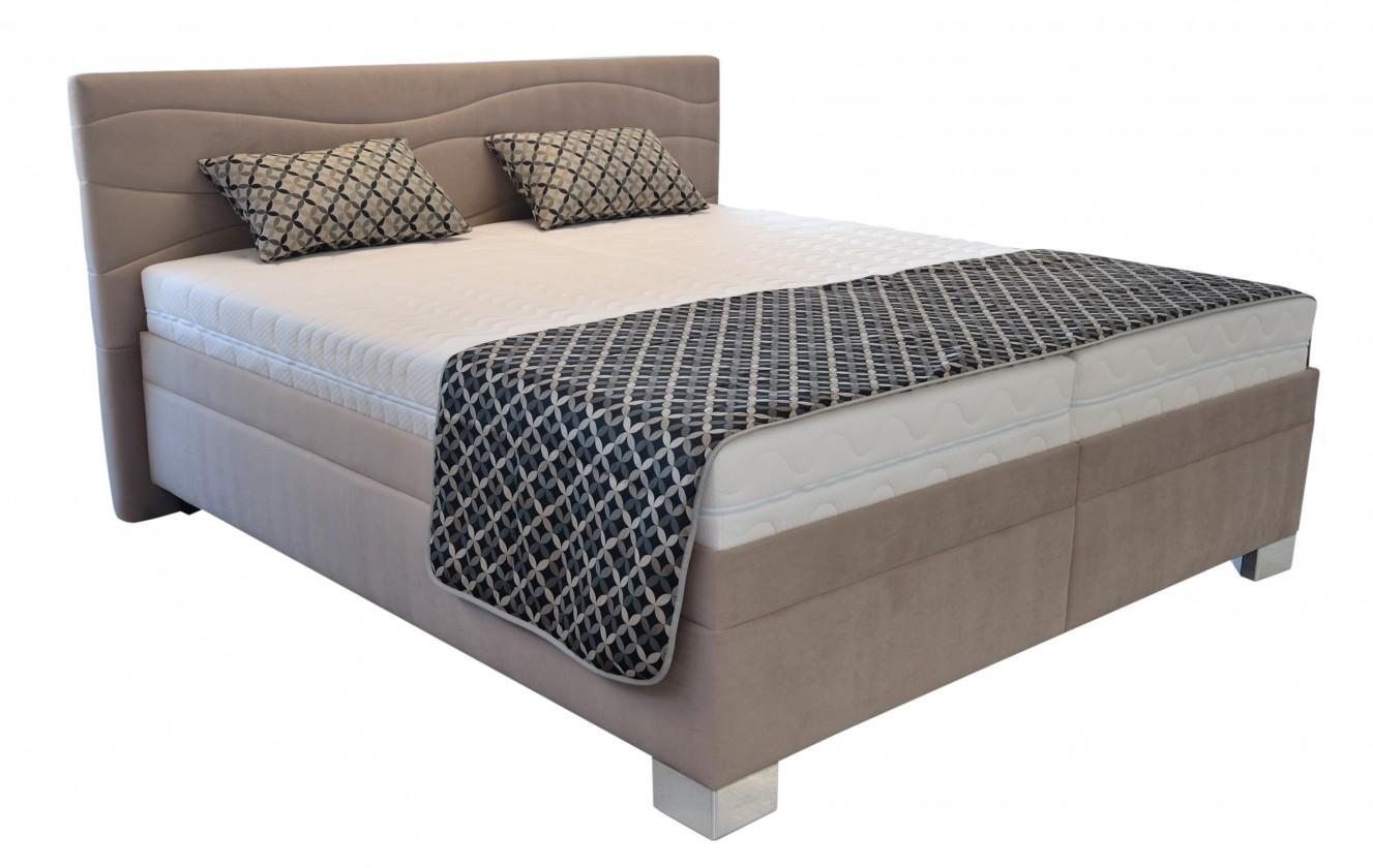 Čalúnená Čalúnená posteľ Windsor 200x200, vr. poloh. roštu, matraca a úp