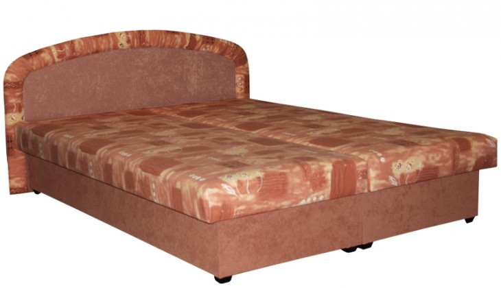 Čalúnená Čalúnená posteľ Zofie 160x200, oranžová, vrátane matracov a úp