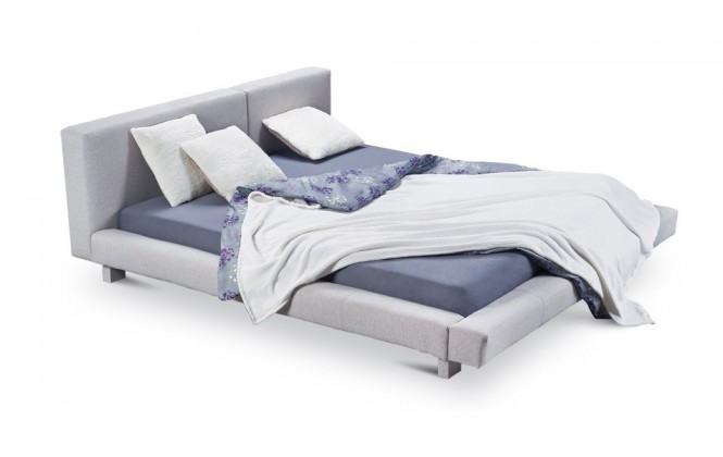 Čalúnená Cubito - rám postele, rošt, 2x matrac (200x200)