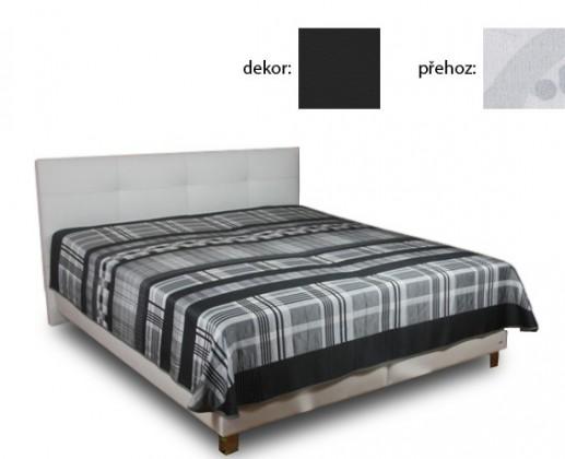 Čalúnená Delores 180x200(matheo 9 - čierna ekokoža , Karagan 1401 )