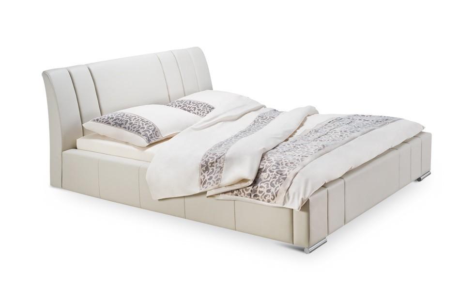 Čalúnená Diano - rám postele, rošt, 2x matrac (200x200)