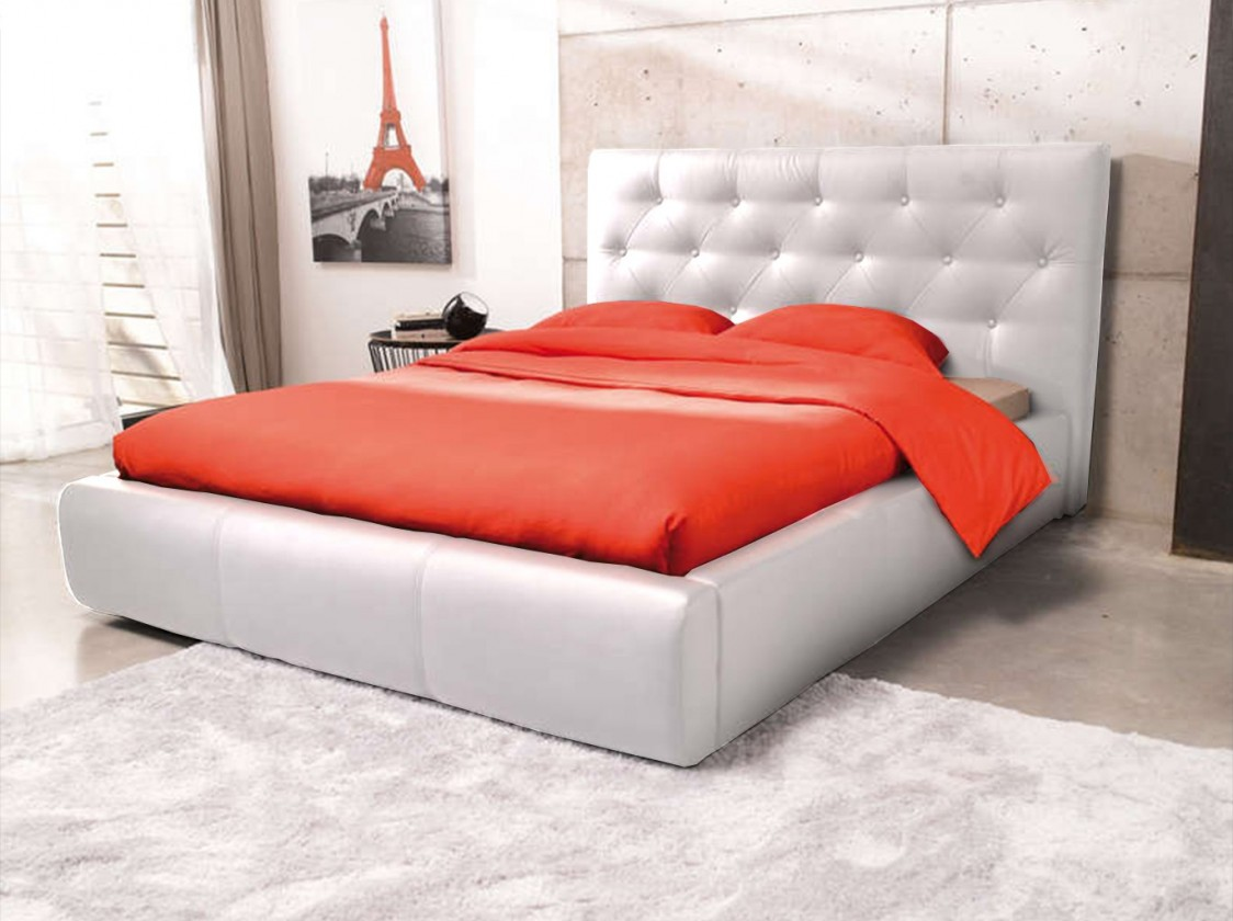 Čalúnená Jasmine - rám postele 200x160 (eko koža)