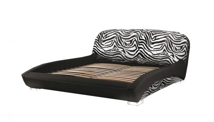 Čalúnená LUX ANIMAL (black - zebra led legs, sk. I)