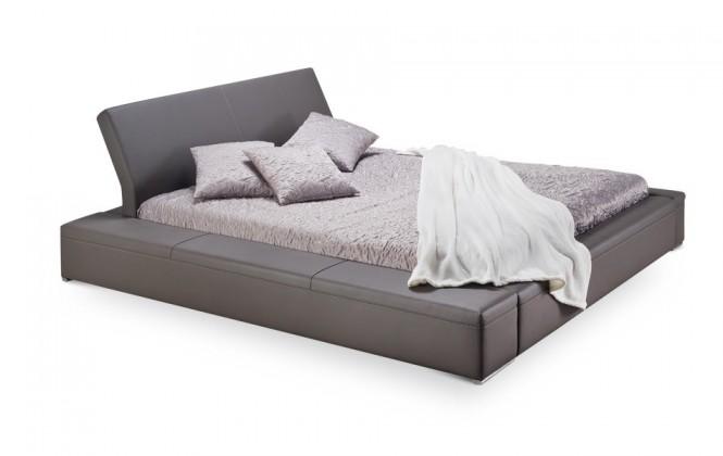 Čalúnená Matteo - rám postele, rošt, matrac (soft 024)