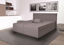Čalúnená posteľ Ariana 180x200, sivá, vr. mat., pol. roštu, úp