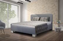 Čalúnená posteľ Arlo 140x200, sivá, vrátane matraca a ÚP