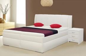 Čalúnená posteľ Bassit 2 (200 cm, biela)