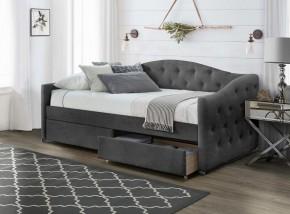 Čalúnená posteľ Belle 90x200, sivá, vrátane roštu a ÚP