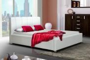 Čalúnená posteľ Boa Vista 140x200, biela, bez roštov a matracov
