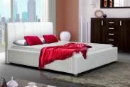 Čalúnená posteľ Boa Vista 180x200, biela, bez matracov a roštu