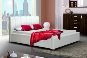 Čalúnená posteľ Boa Vista, biela, bez matracov a roštu
