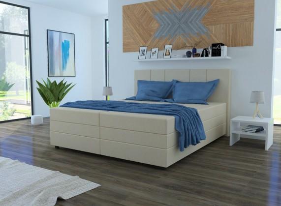 Čalúnená posteľ Čalúnená posteľ Alexa 180x200, vr. matraca a úp, béžová