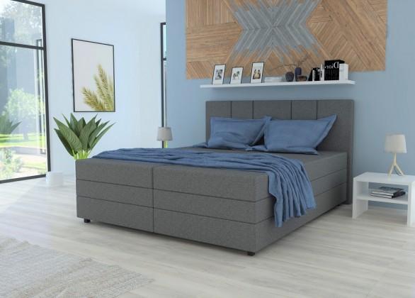 Čalúnená posteľ Čalúnená posteľ Alexa 180x200, vr. matraca a úp, sivá