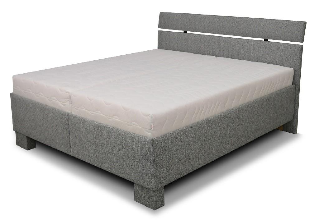 Čalúnená posteľ Čalúnená posteľ Antares 160x200, vrátane matracov,pol.roštu a úp