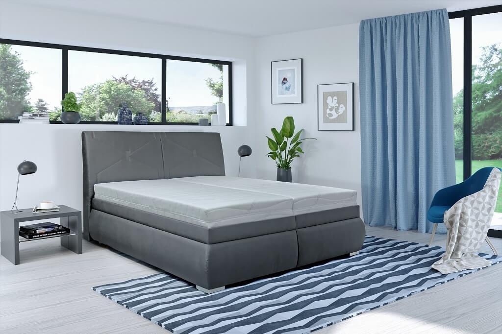 Čalúnená posteľ Čalúnená posteľ Arte 180x200, vrátane matracov, pol. roštu a úp