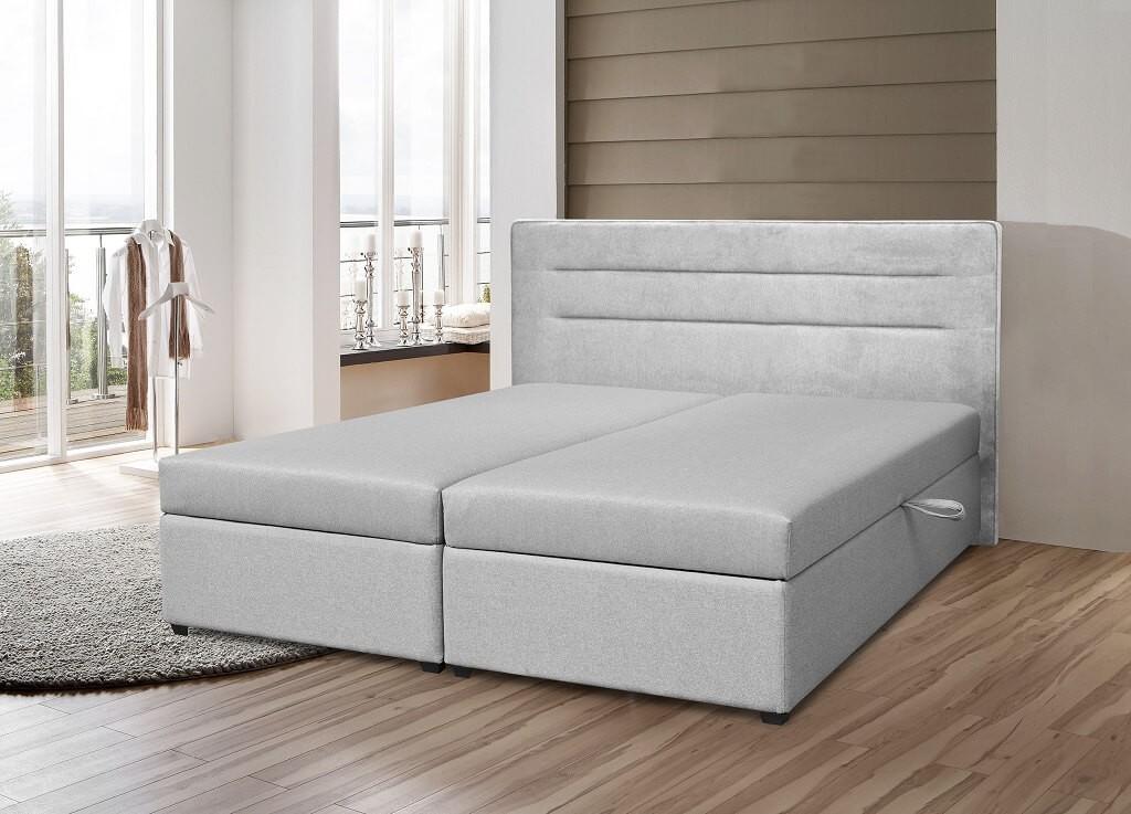 Čalúnená posteľ Čalúnená posteľ Boxspring Elodie 180x200, vr. mat. a ÚP