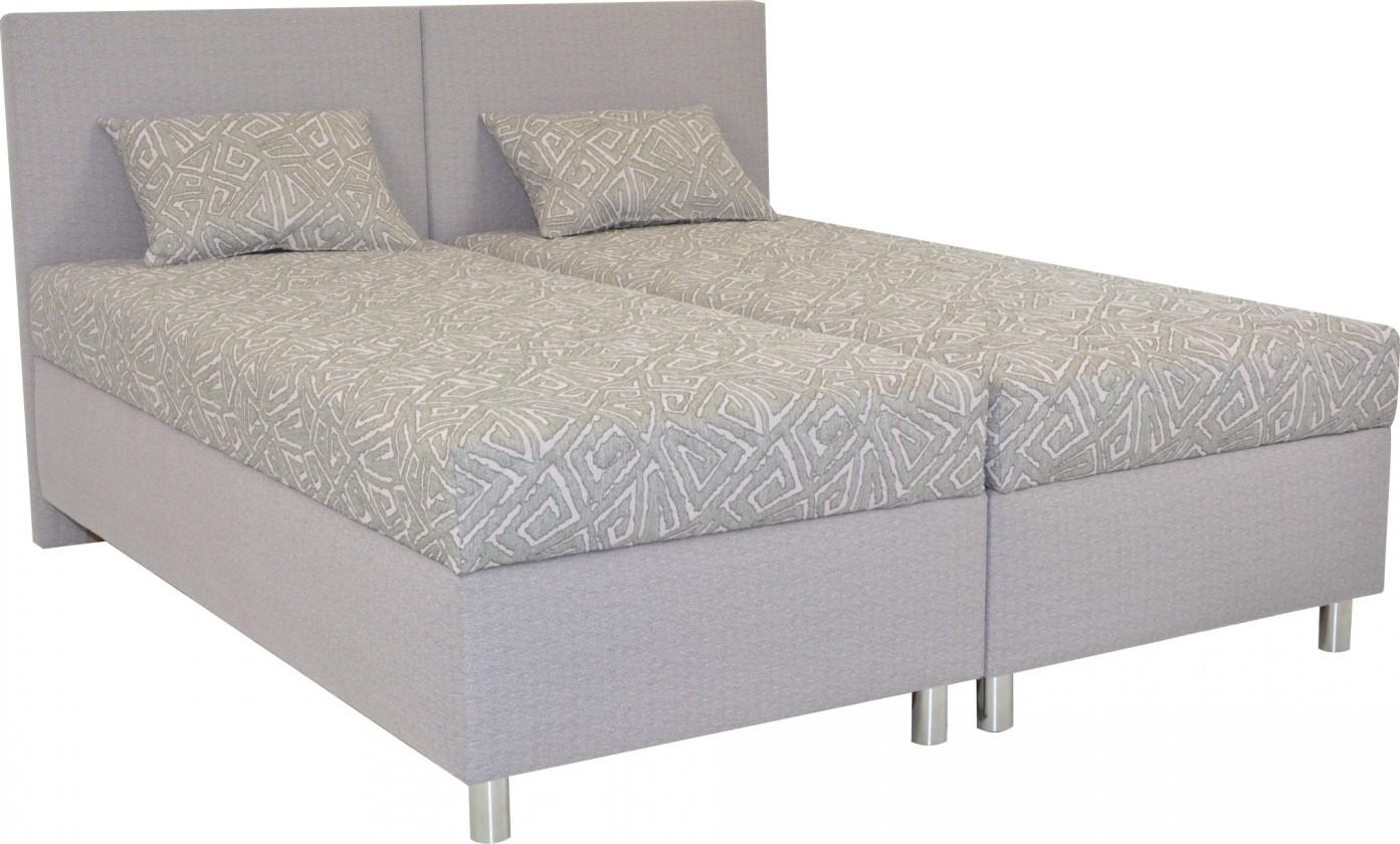 Čalúnená posteľ Čalúnená posteľ Colorado 160x200, ružová, vrátane matracov a úp