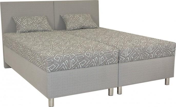 Čalúnená posteľ Čalúnená posteľ Colorado 160x200, šedá, vrátane matracov a úp