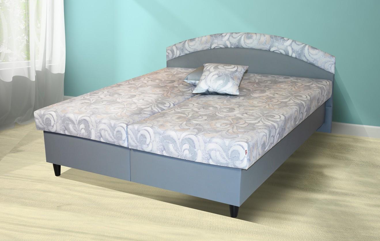 Čalúnená posteľ Čalúnená posteľ Corveta 180x200, šedá, vrátane matracov a úp