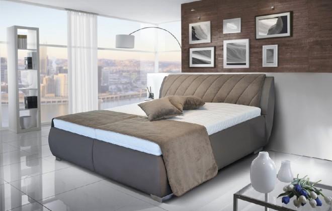 Čalúnená posteľ Čalúnená posteľ Grosseto 180x200 vrátane matracov,pol.roštu a úp