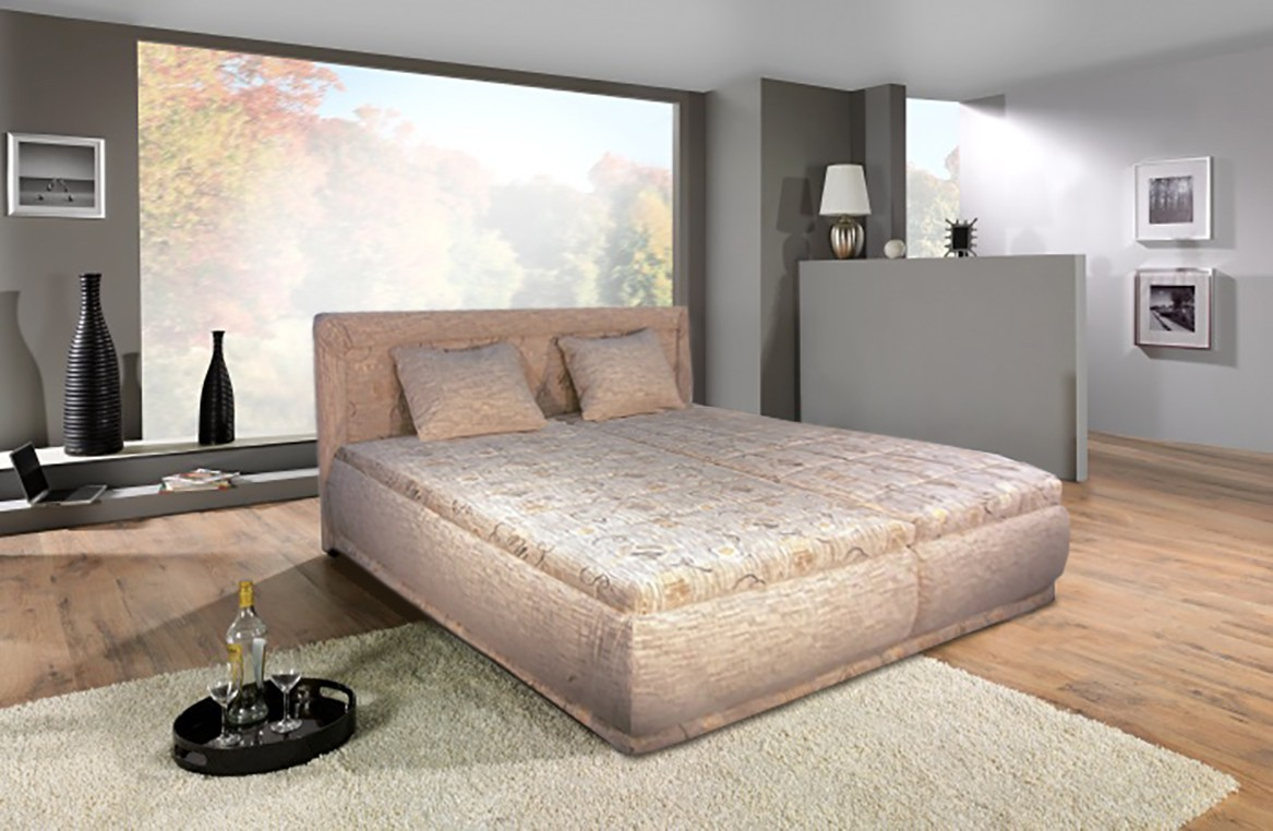 Čalúnená posteľ Čalúnená posteľ Harmonie 160x200,vrátane matracov,roštu a úp