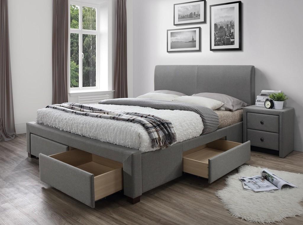 Čalúnená posteľ Čalúnená posteľ Marion 160x200, vrátane roštu a úp, bez matracov