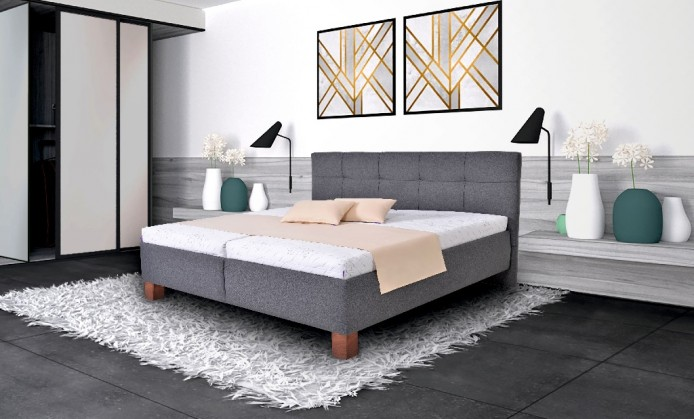 Čalúnená posteľ Čalúnená posteľ Mary 160x200 vr. matraca, pol. roštu a ÚP