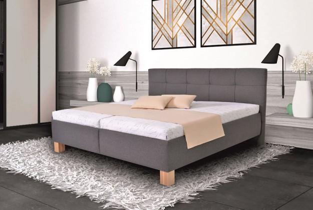 Čalúnená posteľ Čalúnená posteľ Mary 180x200, vr. matraca, pol.roštu a úp