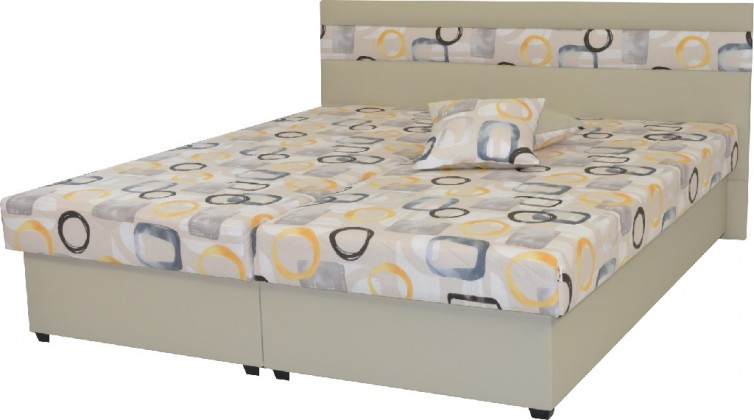 Čalúnená posteľ Čalúnená posteľ Mexico 180x200, béžová, vrátane úp