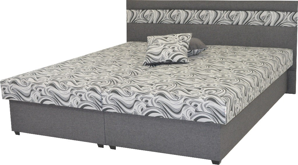 Čalúnená posteľ Čalúnená posteľ Mexico 180x200, šedá, vrátane úp