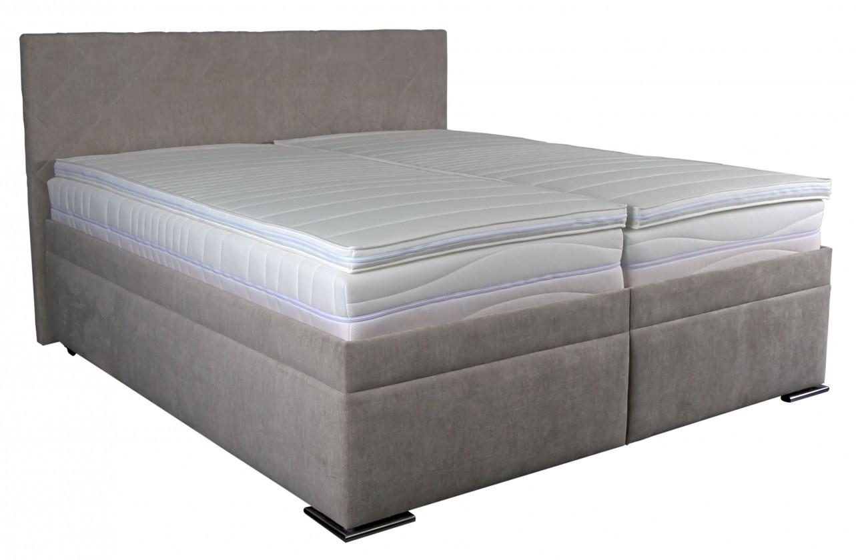 Čalúnená posteľ Čalúnená posteľ Rory 180x200, šedá, vrátane matracov, roštu a úp