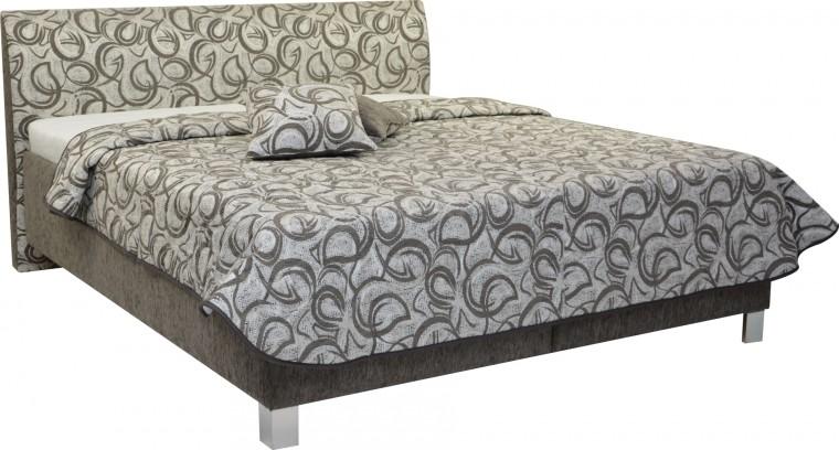 Čalúnená posteľ Čalúnená posteľ Sahara 160x200, vrátane roštu a úp, bez matracov