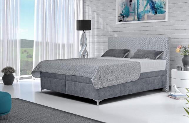 Čalúnená posteľ Čalúnená posteľ Sonia 180x200, vrátane matraca, pol. roštu a úp