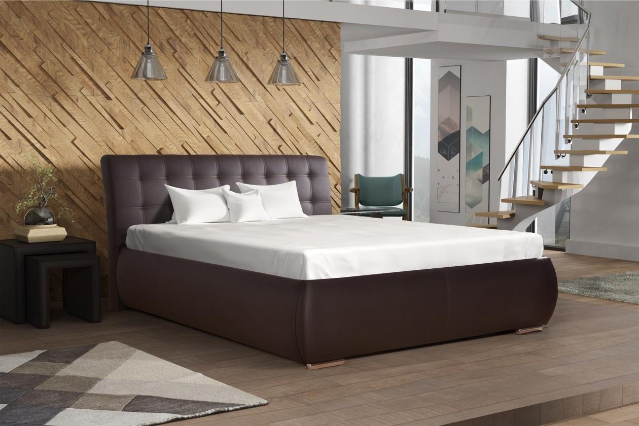 Čalúnená posteľ Čalúnená posteľ Tobago 160x200, vrátane roštu a úp, bez matraca