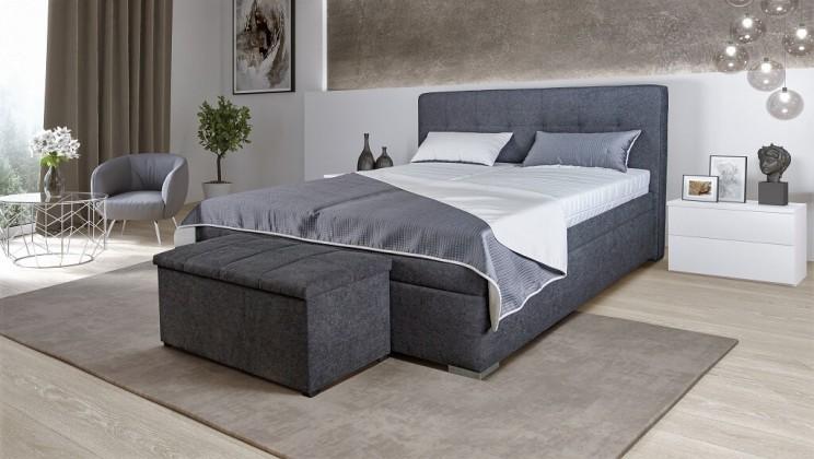 Čalúnená posteľ Čalúnená posteľ Trent 180x200, vrátane matracov, pol. roštu a úp