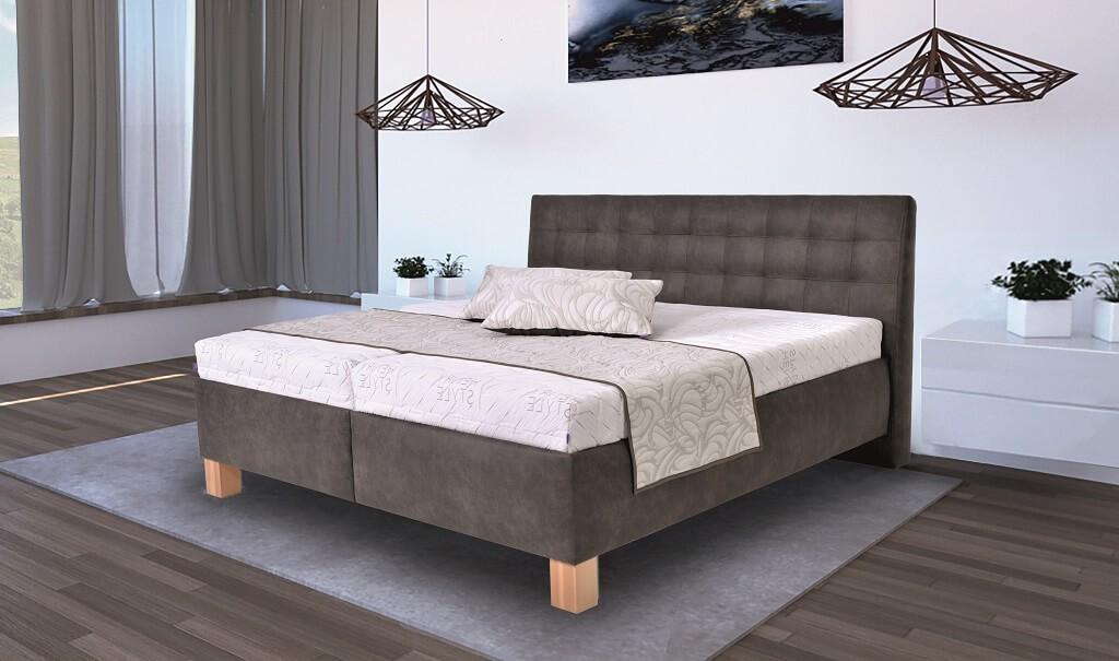 Čalúnená posteľ Čalúnená posteľ Victoria 180x200, vr. matraca, pol.roštu a úp