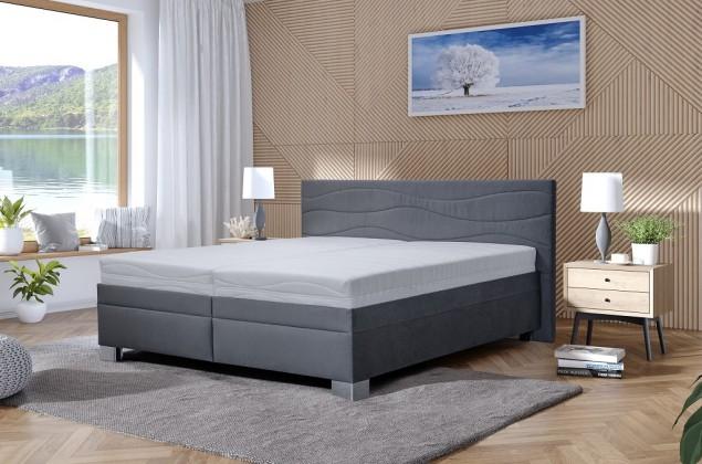 Čalúnená posteľ Čalúnená posteľ Windsor 200x200, vrátane matraca, pol. roštu, ÚP