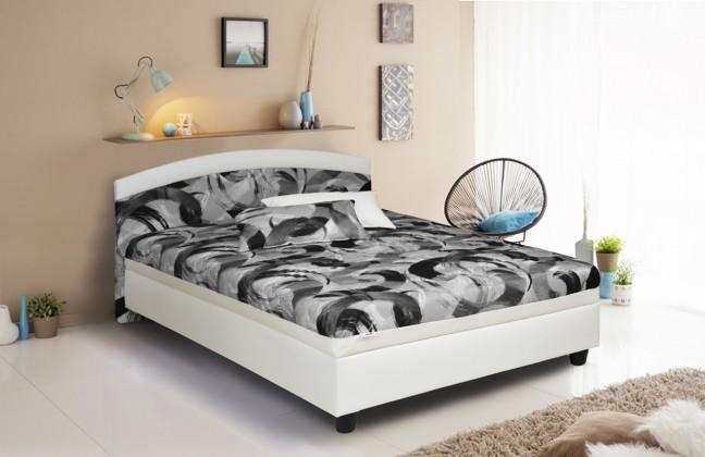Čalúnená posteľ Čalúnená posteľ Zonda 120x200, šedá/biela, vrátane matracov a úp
