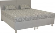 Čalúnená posteľ Colorado 160x200, šedá, vrátane matracov a úp