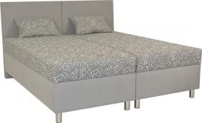 Čalúnená posteľ Colorado 180x200, šedá, vrátane matracov a úp + darček 2 vankúše