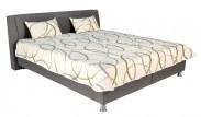 Čalúnená posteľ Discovery 160x200, šedá, vrátane pol. roštu a úp