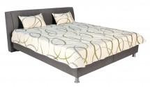 Čalúnená posteľ Discovery 160x200, sivá, vrátane pol. roštu a úp