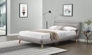 Čalúnená posteľ Elanda 140x200, svetlo šedá, bez matraca a úp