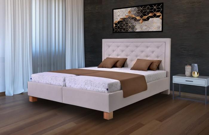 Čalúnená posteľ Elizabeth 180x200, vr. mat., pol. roštu, úp
